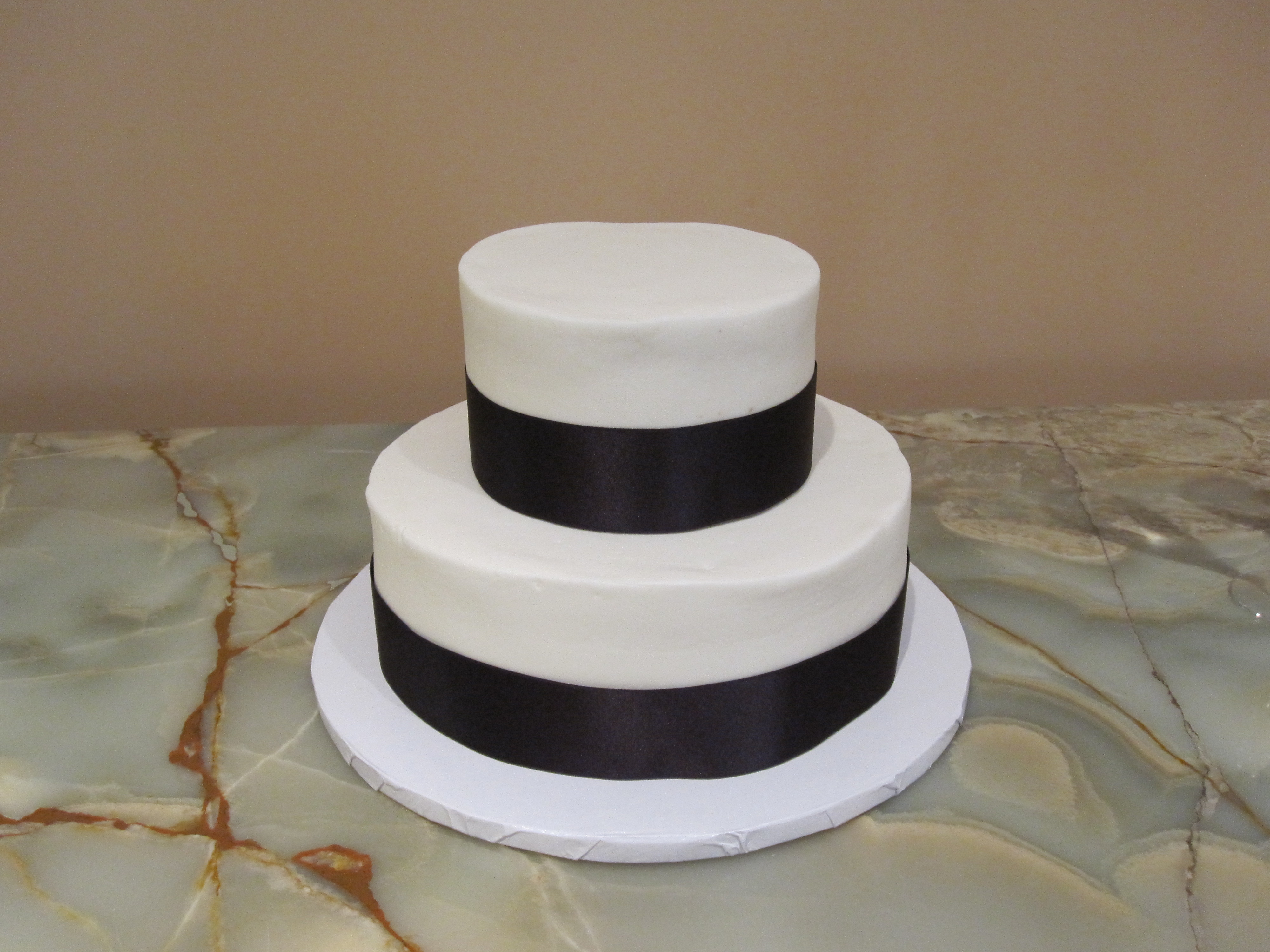 Plain White Four Tier Cake